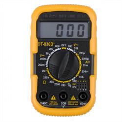 DT 830D + Bærbar 2inch Mini Digital Multimeter med Batteri