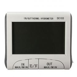 Digital LCD Inomhus Utomhus Termometer Hygrometer Luftfuktighet Meter C / F