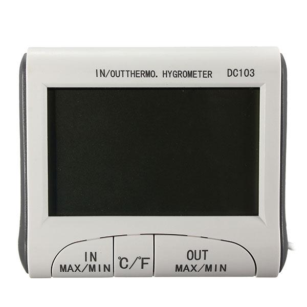 Digital LCD Inomhus Utomhus Termometer Hygrometer Luftfuktighet Meter C / F Instrument & Verktyg