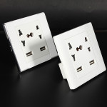 Dual USB Port Elektrisk Vægoplader Socket Power Outlet Panel Plate Instrument & Værktøj