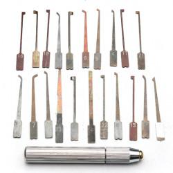 GOSO 22 in 1 Edelstahl Verschluss Auswahl Toos Set Sperrwerkzeuge