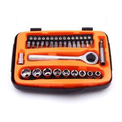 GQ 434E 27stk Kombination Schraubendreher und Sockel Reparatur Werkzeug Satz