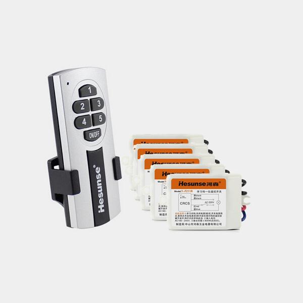Hesunse Fem Måder Smart Trådløs Fjernbetjening Lyskontakt med Et Batteri Instrument & Værktøj