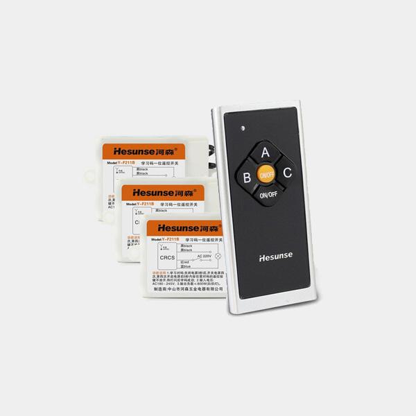 Hesunse Tre Måder Trådløs Smart Home Fjernbetjening Switch med Batteri Instrument & Værktøj