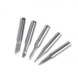 High Quality 5 Pcs Steel Head Electric Soldering Iron Tip Set