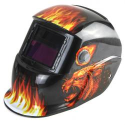 Leopard Solar Energy Automatisk Mørkfarvning Electrical Svejsning Hjelm Mask