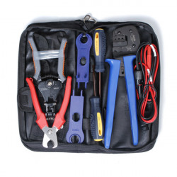 MC3/MC4 Solar PV Crimping/Cutting/Stripping Tools Set with Test Wire