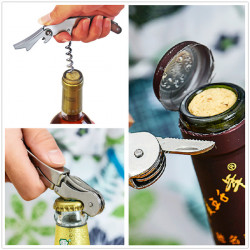 Multifunktionel Rustfri Metal Proptrækker Vin Øl Oplukker 7 Farver