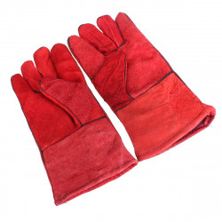 One Pair Heat Resistant Leather Welders Protection Gloves