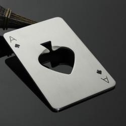 Poker Spielkarte Pik As Stab Werkzeug Soda Bier Drehverschlussöffner elegantes Geschenk