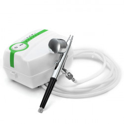 Portable Mini Five-speed Regulator Painted Pump + Airbrush Gun Set