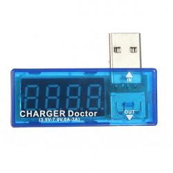 Bärbara Mini USB Ström Spänning Mobil PowerBank Testare Detektor