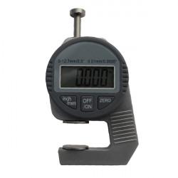 Professionell 0-12.7mm Digital Display Tjocklek Mätare Mätverktyg