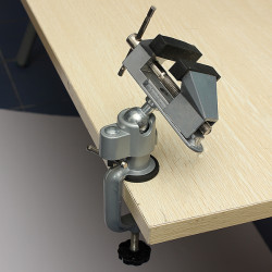 Professional Vises Bench Swivel Vise With Clamp 3 inch Tabletop Vise
