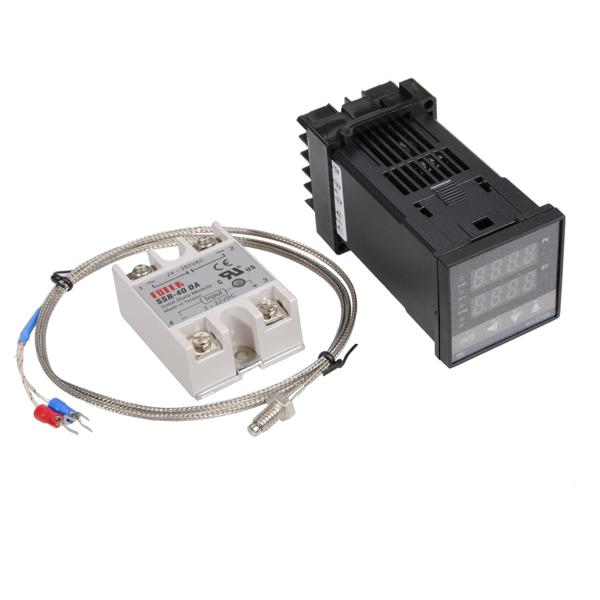REX-C100 110-240 0-1300 Grader Digital PID Temperatur Kontroller Kit Instrument & Verktyg