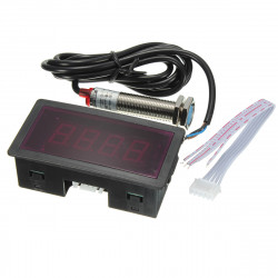 Red LED Tachometer RPM Speed Meter with Proximity Switch Sensor NPN
