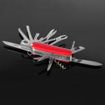 Red Schweizer 91mm Multifunktionsfalten Taschenmesser Edelstahl Überlebens Messer multi Werkzeug Instrumente und Werkzeuge