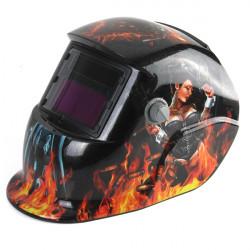 Revolver Girl Solar Auto Darkening Welding Grinding  Arc Tig Mig Helmet Mask