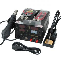 Saike 909D 220V 3 i 1 Heat Air Pistol Löddning Iron Lödstation