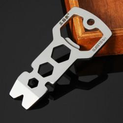 Sanrenmu GJ021D Bärbar Multi Verktygkit Nail Puller Nyckel Flasköppnare Nyckelring