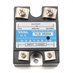 Enfas SSR Solid State 20A 480V 90-250VAC 2-12mA AC Solid Relay