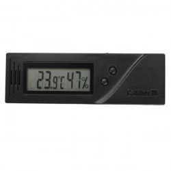 Square Adjustable LCD Thermometer Temperature Humidity Cigar Hygrometer