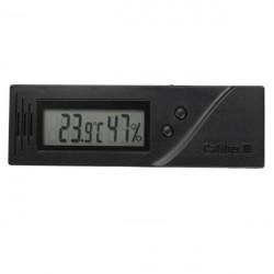 Kvadrat Justerbar LCD Termometer Temperatur Fuktighet Cigarr Hygrometer