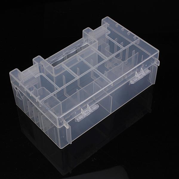 Gennemsigtig Hård Plast Etui Cover Holder Opbevaring Box til AA AAA C Batteri Instrument & Værktøj