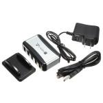 USB Hub 7-Portars USB 2.0 Hi-Speed Splitter Adapter med DC Strömförsörjning Instrument & Verktyg
