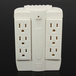 Universal RCA 6 Outlet Überspannungsschutz Rotating Wand Tap Power Strips