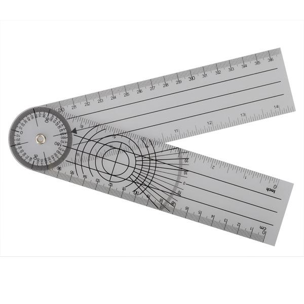Userful Multi-Ruler 360 Graders Goniometer Angle Medical Spinal Linjal Cm / Tum Instrument & Verktyg