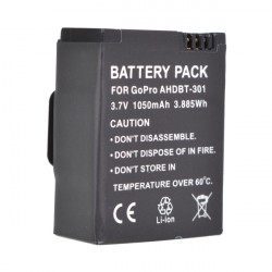 1050mAh Ahdbt-301 Battery For Gopro Hero 3/3+ Rechargeable Battery