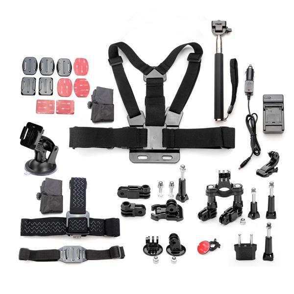 11 i 1 Pro Tilbehør Kit for Gopro Hero 1/2/3/4/3 Plus Kamera Foto & Video