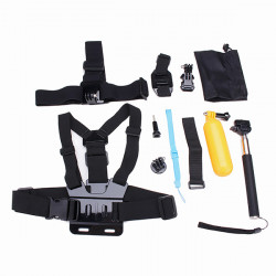 12 In 1 Chest Belt Head Strap Head Strap Helmet Belt Mount J-Hook Buckle Mount Kits For Gopro 4 3 2 3 Plus