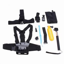 12 i 1 Chest Belt Hoved Strap Hoved Strap Helmet Belt Mount J-Hook Buckle Mount Kits for Gopro 4 3 2 3 Plus
