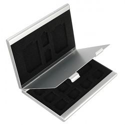 13 in 1 bewegliche Aluminiumaufbewahrungsbehälter Kasten Halter Schutz für TF SD Karte