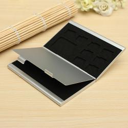 13 Slots Aluminum 10 X TF 3 X SD SDHC MMC-hukommelseskort Opbevaring Box Case Hold
