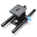 15mm Rail Rod Baseplate Mount for DSLR Følg Focus Rig 5D2 5D3-A Foto & Video