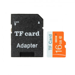 16GB Micro SD TF Secure Digital High Speed ​​Hukommelseskort Class10 med Adapter