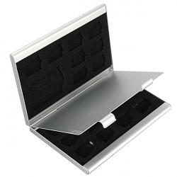 18 Slots Aluminium 16 X TF 2 X SD-minneskort Förvaringsbox Fodral Hållare Protector