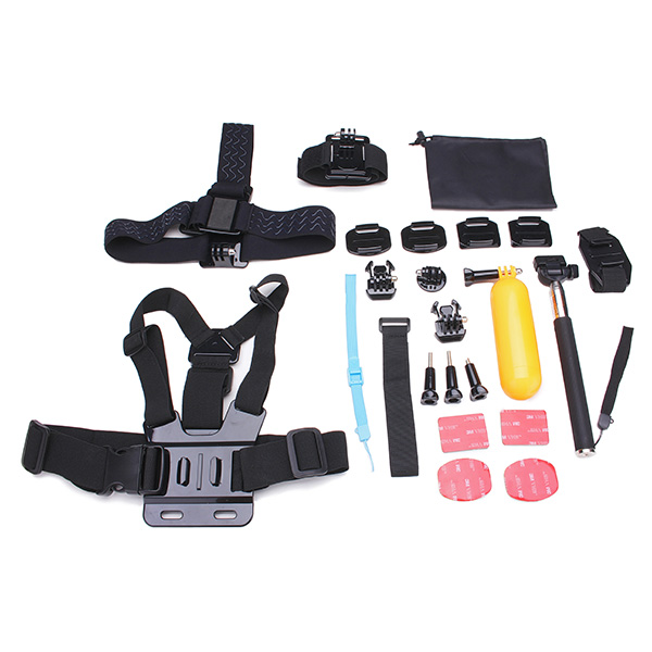 23 In 1 Kit Accessories For Gopro Hero 3 4 3 Plus SJ4000 Sport Camera Photography & Camera Acc