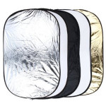 24 x 36 Inch 5 In 1 Portable Studio Photo Collapsible Light Reflector 60 x 90cm Photography & Camera Acc