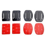 2 Flat and 2 Curved Adhesive Mounts With 3M Adhesive Pads For Gopro HD Hero 3+/3/2/1 Photography & Camera Acc