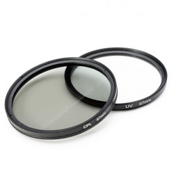 2stk Digital 67mm UV Lens Filter Og 67mm Circular Polarisationsfilter CPL Filter Kit for Nikon Canon Sony
