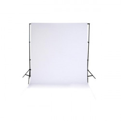 2 x 1.6m Seamless Flocked Fabric Cloth Photo Backdrop Background White