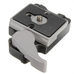 323 Quick Release Clamp Adapter med 200PL-14 QR for Manfrotto Kamera Tripod