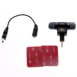 3.5mm Microphone With Adapter Cable 3M Tape For GoPro Hero 3/3 plus/4 Photography & Camera Acc