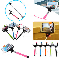 3.5mm Selfie Stick Telescopic Monopod With Shutter Button For iPhone Samsung Cellphone