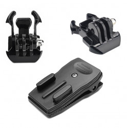 360 Degree Rotary Quick Clip Mount 2pcs Black Buckle Basic Strap Mount For Gopro Hero