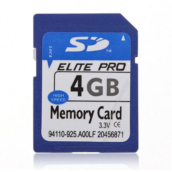 4GB 4G SDHC Secure Digital High Speed Hukommelseskort til Kamera Foto & Video